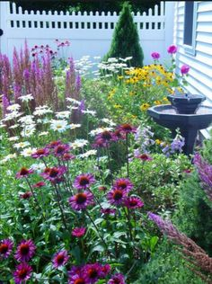Cottage gardens feature an abundance of color, freestyle form and fun artwork. Get ideas and inspiration for creating your own beautifully casual cottage garden. Cottage gardens feature an ab Small Cottage Garden Ideas, Garden Cottage, Garden Shop, Small Flower Garden Ideas On A Budget, Prairie Garden, Backyard Cottage, The Secret Garden, Front Yard Landscaping, Landscaping Ideas