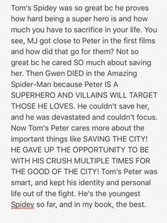 Toby was a good Peter Parker  Andrew was a good Spider-Man  But Tom is a good balance of both