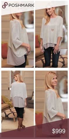 🎉Coming Soon- Gray Chiffon Layered Back Top🎉 Gray chiffon layered back top- this one is a must have for every closet! Dressy enough for those Holiday parties🎄 and still comfy! Bundle and save with two or more items from my closet! Infinity Raine Tops