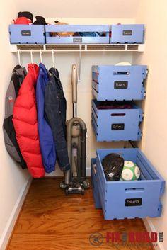 Kreativní nápady - DIY Pull-Out dřevo Crate skladování organizovat vašem šatníku