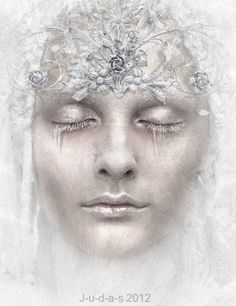 Browse Digital Art on DeviantArt Fantasy Makeup, Fantasy Art, Fantasy Queen, Snow Maiden, Queen Makeup, White Queen, White White, White Magic, Horror