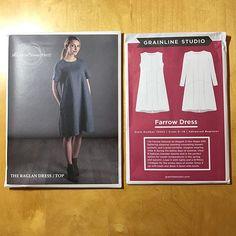 You wait ages for a new a-line dress pattern, then two come along at once!  @grainlinestudio @theavidseamstress #farrowdress #raglandressfarrowdress,raglandresscharliesumx