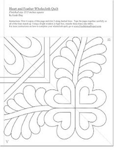 heart and feather pattern