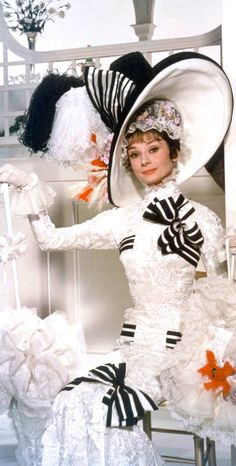 Audrey Hepburn as Eliza Doolittle at the Ascot. 'My Fair Lady' (1964). Costume Designer: Cecil Beaton