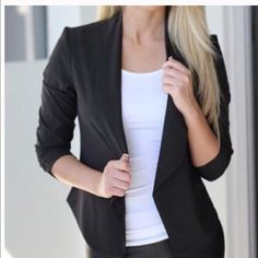 Long sleeves open jacket Chic New Just In! Long sleeve draped jacket great jacket to wear casual with jeans or dressy WEEKEND SALE Jackets & Coats