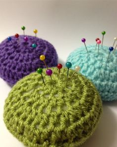 Cottage Chic Crochet Pincushion by PollyPerfitt on Etsy, £2.00
