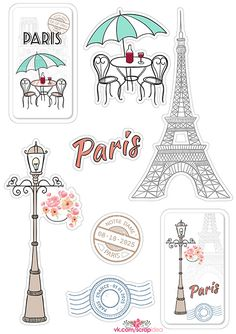 x 176 KB) - Travel ideas and planning - Travel Printable Planner Stickers, Journal Stickers, Scrapbook Stickers, Tumblr Stickers, Cute Stickers, Paris Themed Cakes, Image Clipart, Paris Wallpaper, Edible Printing