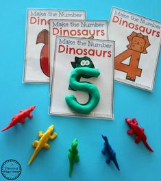 Preschool Dinosaur Theme activities - Counting and Numbers. Dinosaur Classroom, Dinosaur Theme Preschool, Dinosaur Activities, Autism Activities, Preschool Themes, Kindergarten Activities, Numbers Preschool, Dinosaur Dinosaur, Preschool Printables