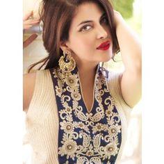 Elegant Egyptian Blue Saree