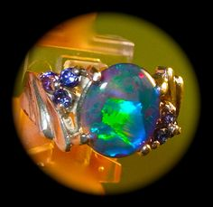 EXQUISITE Opal & Tanzanite. Genuine Australian by AmyKJewels