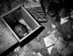 Mummified head in a box. No information at source, will have to do some research. In the meantime: Enjoy!