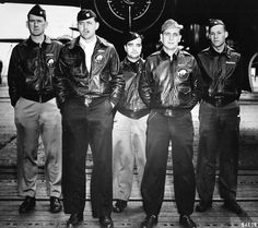 """""""Kicking Mule"""" aircrew. WWII 95th Bomber squadron."""