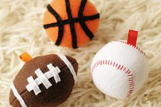 Rust & Sunshine: Free Football, Baseball, and Basketball Pattern (for tree ornaments or toy balls)