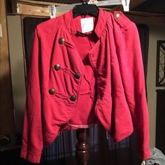 Red jacket Bought pre owned worn a couple times by me Jackets & Coats Blazers
