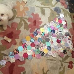 Progress of quilt