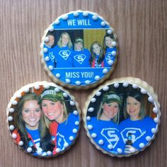 Fashionably Sweet Treats™ Custom Photo Cookies make sweet edible memories for any going away party! #partyfavor #retirement