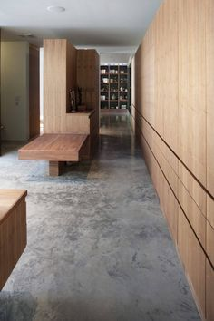 FLOORING more Heavy Metal by Hufft Projects - polished concrete floors and timber. My Home Design, House Design, Interior Architecture, Interior And Exterior, Clad Home, Storey Homes, Basement Flooring, Concrete Floors, Acid Wash Concrete