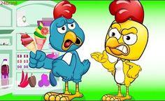 A Galinha Magricela roubar Sorvete   engraçados de desenhos animados   Galinha Pintadinha Completo