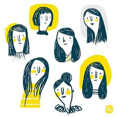 Yellow & Grey #sketchbook #sketch #doodle #drawing #yellow #art #illustration #graphic #picoftheday
