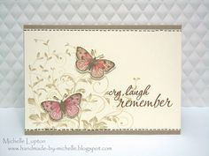 """By Michelle Lupton. Uses the Hero Arts """"Leafy Vines"""" stamp."""