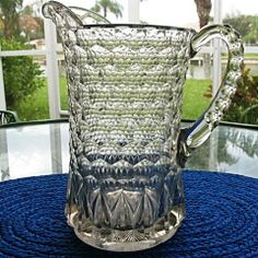 Honeycomb Pillar Water Pitcher Early 1800s