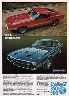 1969 Shelby Mustang GT350 and GT500