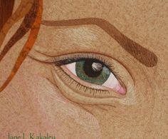 Custom Portrait Art Quilt by Jane L Kakaley by JaneLKakaley