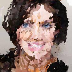 "Saatchi Art Artist Hugo Valentine; Painting, ""Posh Girl Makes My Day [Limited Edition 1 of 1]"" #art"