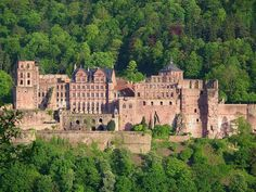 Heidelberg Castle is a famous ruin in Germany & landmark of Heidelberg. The castle ruins are among the most important Renaissance structures north of the Alps. The castle has only been partially rebuilt since its demolition in the 17th & 18th centuries. It is located 260 ft up the northern part of the Königstuhl hillside, & thereby dominates the view of the old downtown. The earliest castle structure was built before 1214 & later expanded into two castles - (Tentative List)