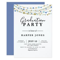 Violet Class Of Custom Year Graduation Invitation