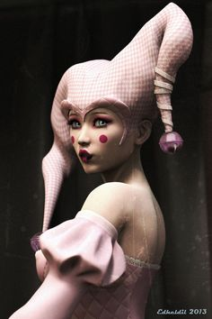 Pink arlequin