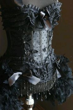 Embellished Victorian Corset. Too pretty! This one is beautiful! I love the details and the colors.  :-)