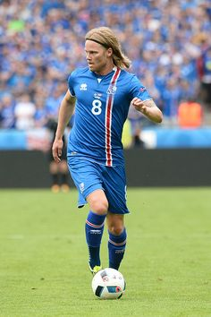 #EURO2016 Birkir Bjarnason of Iceland during the UEFA EURO 2016 Group F match between Iceland and Austria at Stade de France on June 22 2016 in Paris France