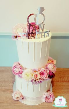 WEDDING, FLOWER CAKE <3