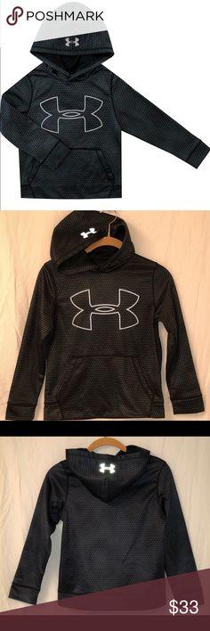f1922ff75989  46 Under Armor Black Storm Cold Gear Hoodie 7 8 Big logo hoodie in bold