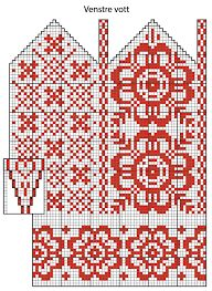 Trendy knitting charts hats mittens pattern ideas - Knitting New Knitted Mittens Pattern, Fair Isle Knitting Patterns, Crochet Mittens, Hand Knitted Sweaters, Knitting Charts, Knitting Socks, Knitting Stitches, Hand Knitting, Fingerless Mittens