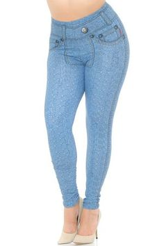 Largest online retailer of leggings and leg fashion in kids, regular, plus and extra plus sizes with over 4000 styles and the lowest online prices. Blue Jeans, Plus Size Leggings, Online Price, Skinny Jeans, Beautiful, Style, Fashion, Swag, Moda