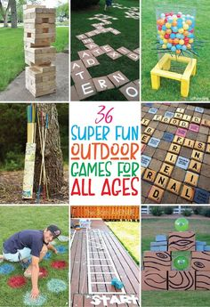 The best outdoor games you can DIY or buy! Tons of great giant yard games, outdo… The best outdoor games you can DIY or buy! Tons of great giant yard games, outdoor party games, and even just classic outdoor games for kids! Giant Outdoor Games, Giant Yard Games, Outdoor Yard Games, Outdoor Games For Kids, Games For Teens, Backyard Games, Outdoor Fun, Yard Games For Kids, Outdoor Toys