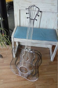 Grad Gift! Retro Guitar Cd Jewel Case Holder Storage Rack,Stand,Display. Holds up to 54 CD's or DVD's. Modern Home Decor. Functional Art. by TheRustyBucketVT on Etsy