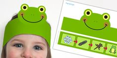 Frog Life Cycle Headband - frog, life cycle, headband, role-play, free