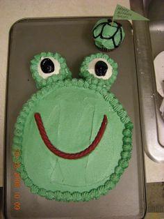 frog cake for Gavin's 9th birthday