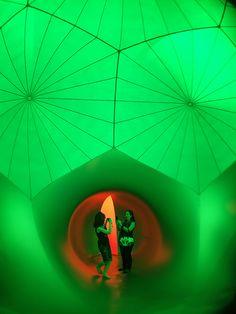 The Architects of Air bring you the Exxopolis Luminarium traveling art installment in Austin, Texas.