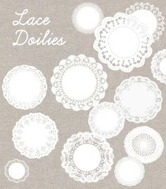 Free Lace doily images-vector!