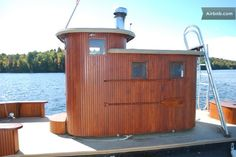 Amazing Sauna Boat in Adirondacks in Saranac Lake