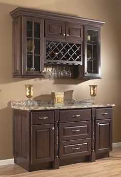 Traditional Chocolate Kitchen--Cabinetry Sold at Innovations