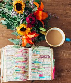 Bible Journaling, Flowers, and Coffee. Learn how to take better notes and make Bible Study FUN with this ebook!