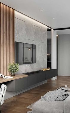 9 new ideas living room tv wall ideas tv decor shelves 3 « A Virtual Zone Living Room Home Theater, Living Room Interior, House Paint Interior, Modern Tv Wall Units, Modern Tv Room, Modern Living, Tv Console Modern, Bedroom Modern, Minimalist Living