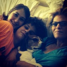 Watching TV in a crowded bed with my family #ShiftforGood