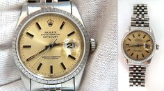 Rolex Datejust Mens Stainless Steel Watch / Working Order Automatic