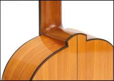 Guitarras custom construídas por Rodolfo Cucculelli, Luthier: Flamenco Blanca Guitar, copy of Santos Hernández